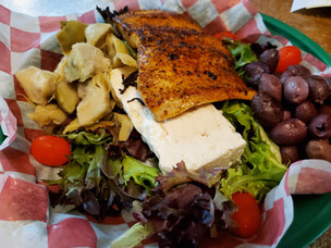 Greek Salad with blackened