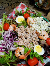Archie's Seafood Cobb with a lemon dill sauce