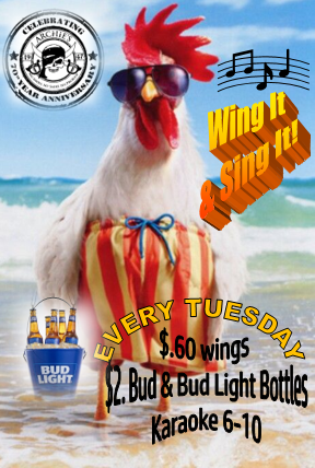 Tuesday Wing It & Sing It