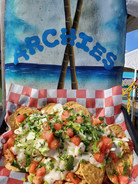 Archie's blackened shrimp nachos