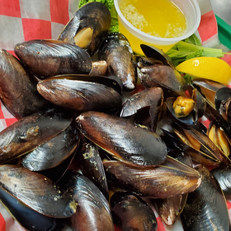 Mussels with hot butter
