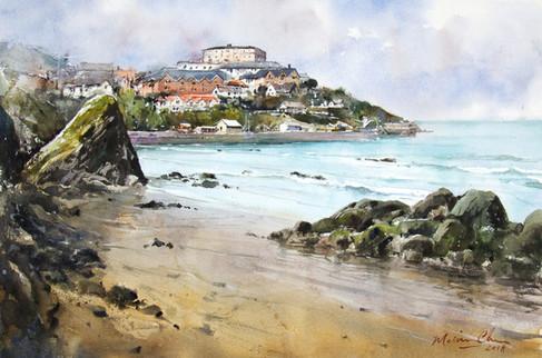 |Picturesque Towan Beach • Newquay, Cornwall, England