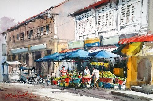 Fruit Stalls in Penang, Malaysia