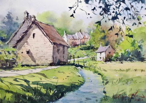 Honey-Coloured Cottages • Bibury, Cotswolds, UK