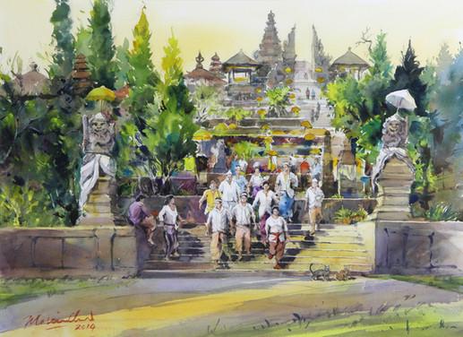 After Prayers • Besakih Temple, Bali