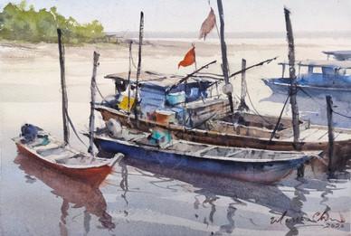 Parit Jawa Fishing Boats • Muar, Johor, Malaysia