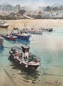 Moored Boats • St Ives, Cornwall, UK