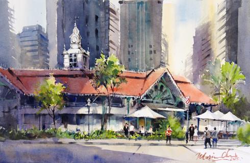 Morning Light on the Old Market • Lau Pa Sat, Singapore