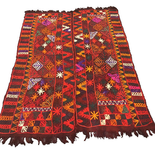 Warm coloured double Izar rug / marriage blanket