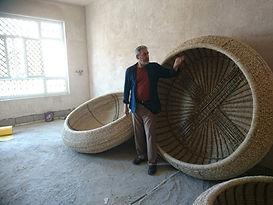 Rashad Salim with Guffa coracles before