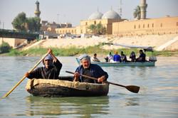 Abu hyder and Rashad on Guffa in Kishla old Baghdad- Photo copy