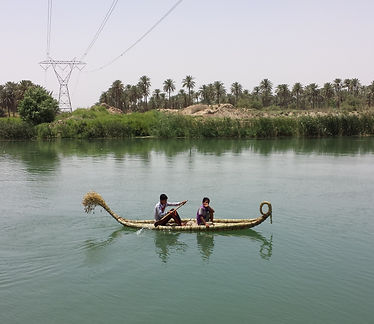Shasha reed bundle boat on the Euphrates