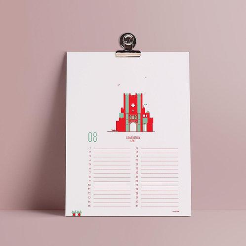 Birthday calendar 'mmmMar' - Gent
