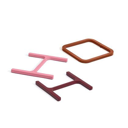 Coaster 'Atelier Belge' - Half a pound sliced steel (red/pink/orange)