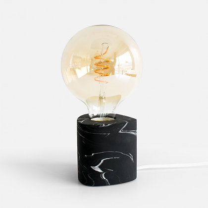 Walter Table Lamp 'House Raccoon' - Black Marble