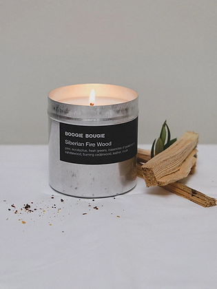 Soy candle 'Boogie Bougie' - Siberian Fire Wood