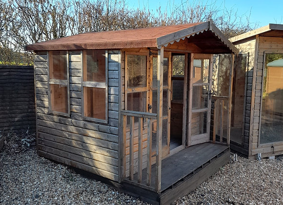 8 x 6 Apex Summer House with 2' canopy and veranda