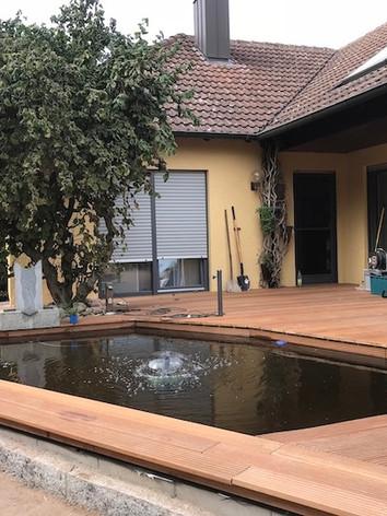 Baustelle: Terassenbau Rauschenberg