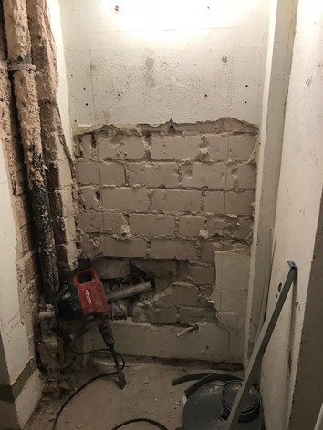 Wanddurchbruch Baustelle