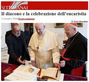Il diacono e la celebrazione dell'Eucari