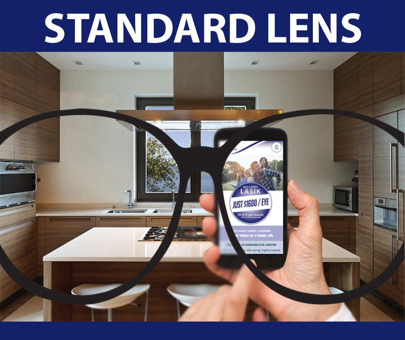 Standard Lens vision: Improved vision from cataract removal