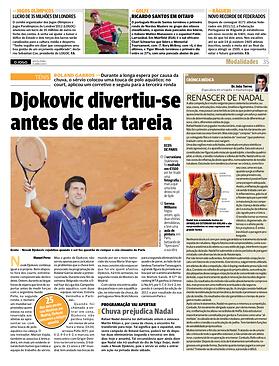 """inJornal """"O Jogo"""" 31.05.2013 Renascer de Nadal Crónica Médica"""