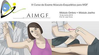III Curso de Exame Musculo-Esquelético para MGF