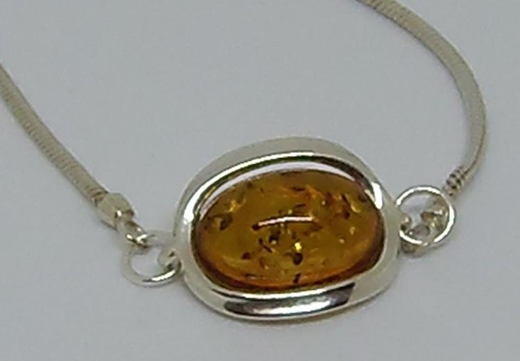 amber bracelet close up