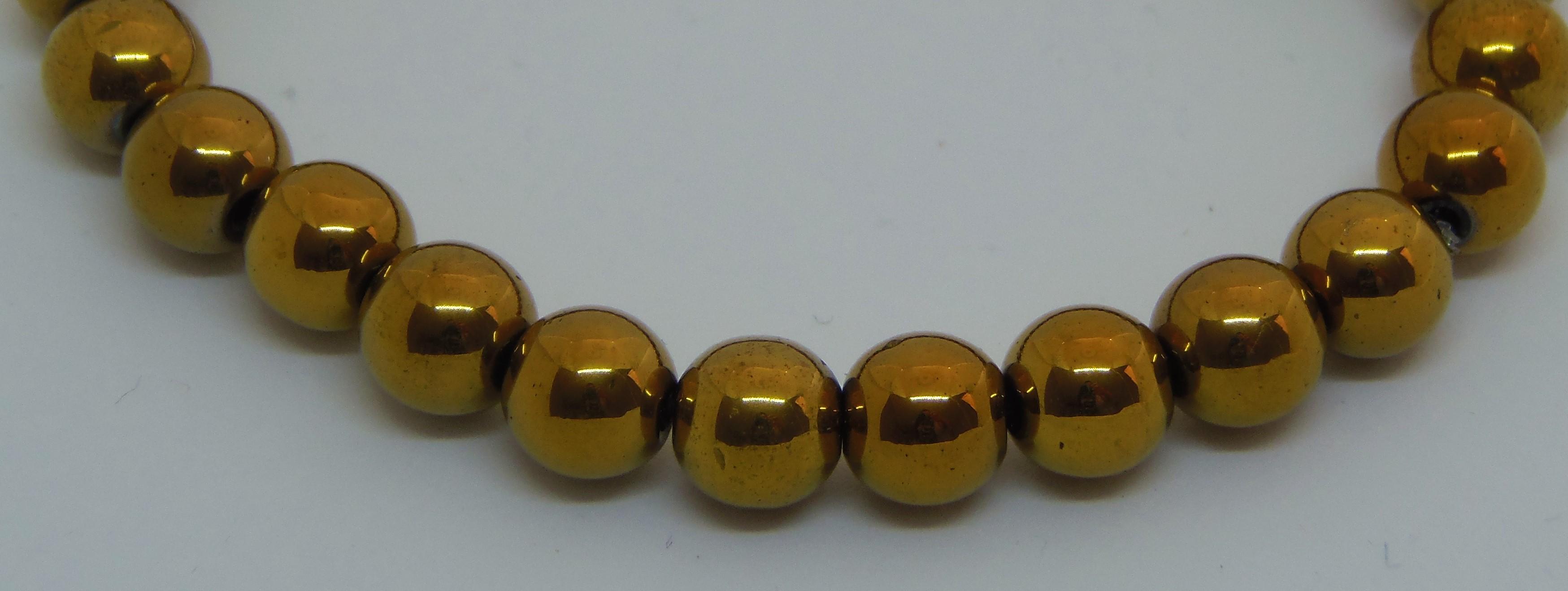 gold haematite stretchy bracelet