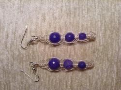 wire macrame earrings