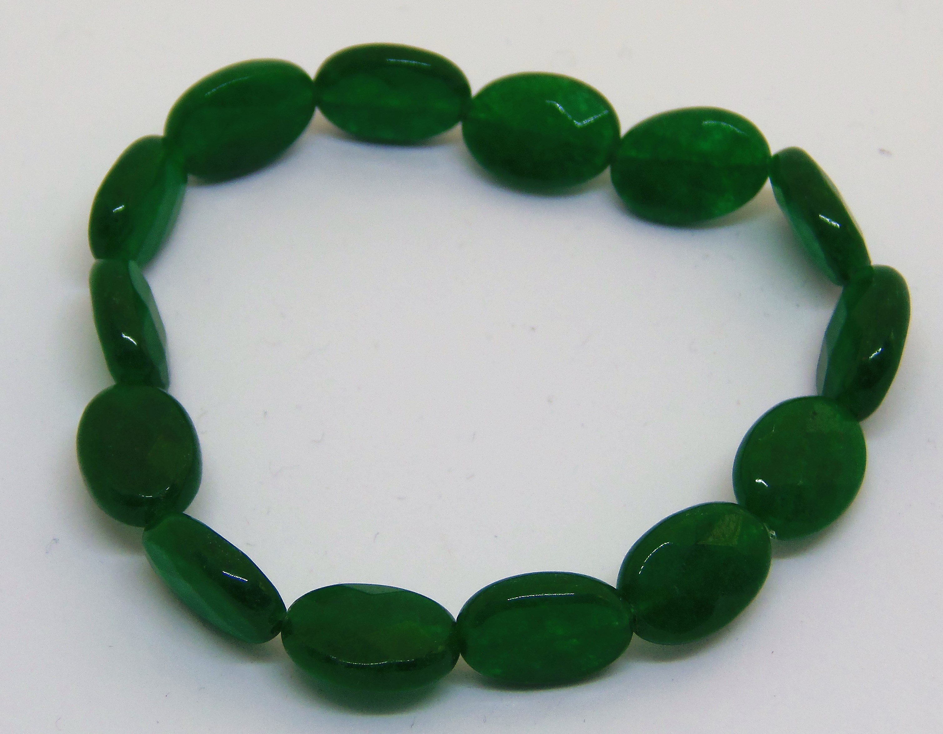 green quartz stretchy bracelet