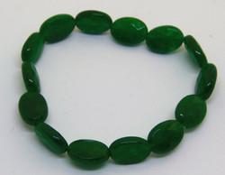 green quartz stretchy bracelet