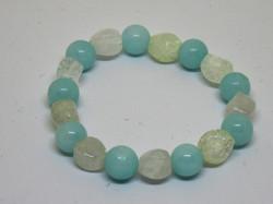 blue and clear quartz stretchy