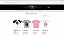 Site loja Virtual Danger Clothing