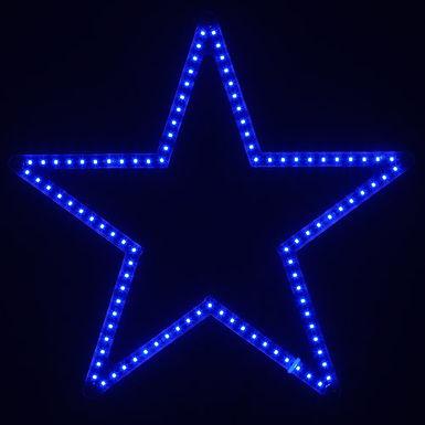 Ultra Bright SMD 5 Point Star Light, Blue Lights