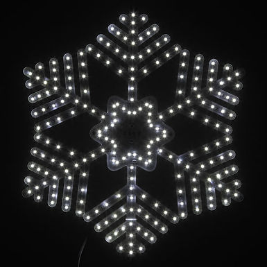Ultra Bright SMD 36 Point Snowflake, Cool White Lights