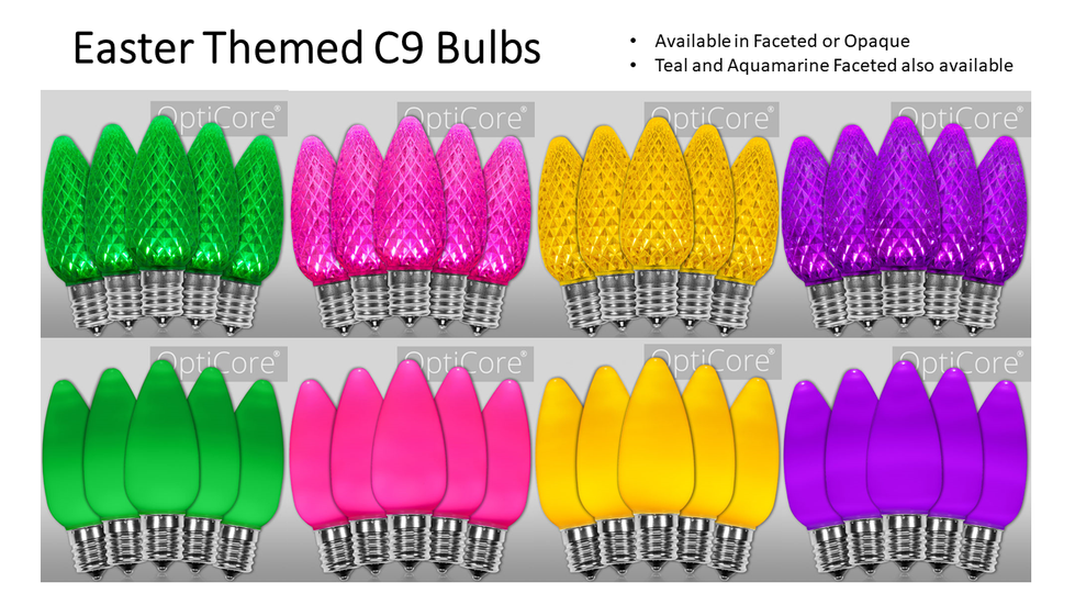 Easter Themed C9 Bulbs