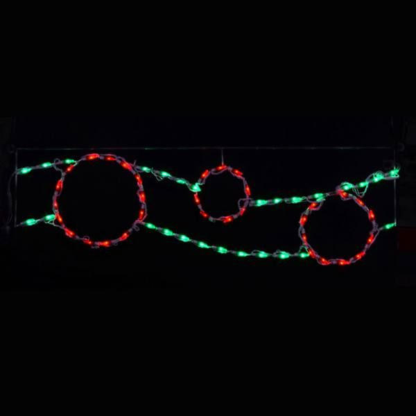 Ribbon with Ornaments (Red/Green)