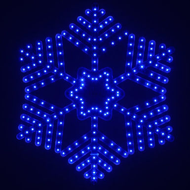 Ultra Bright SMD 36 Point Snowflake, Blue Lights