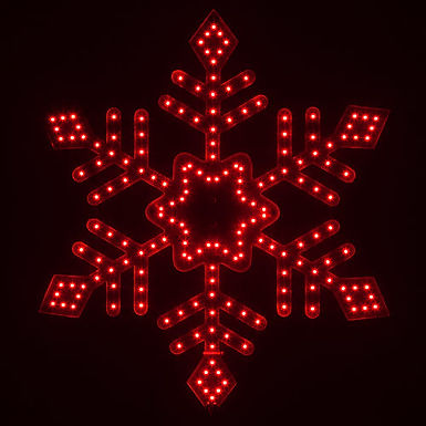 Ultra Bright SMD Diamond Tipped Snowflake, Red Lights