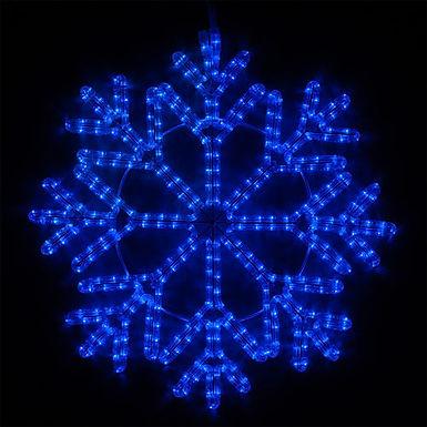 40 Point Snowflake, Blue Lights