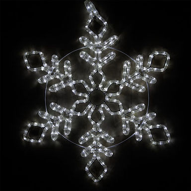 Diamond Branch Snowflake, Cool White Lights