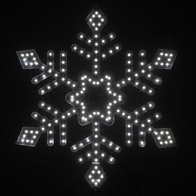 Ultra Bright SMD Diamond Tipped Snowflake, Cool White Lights