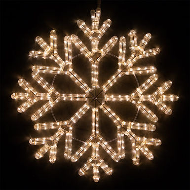 40 Point Snowflake, Warm White Lights