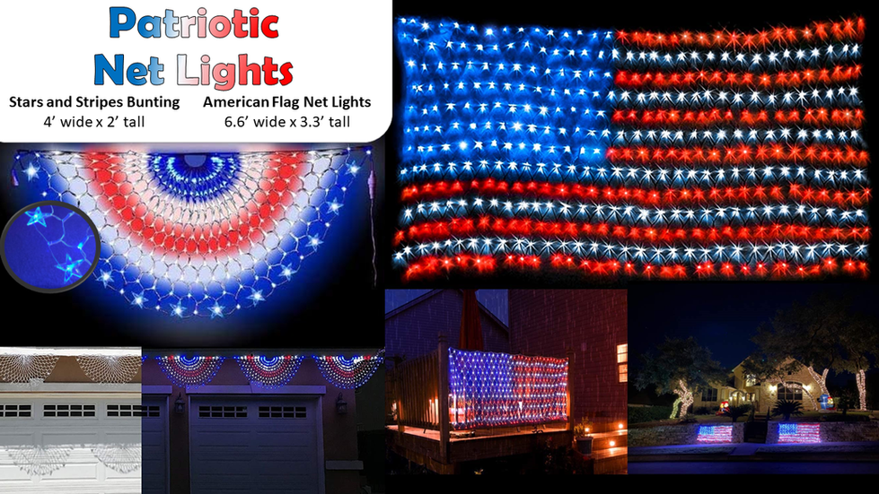 Patriotic Net Lights