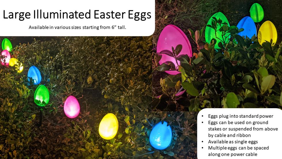 Large Illuminated Easter Eggs