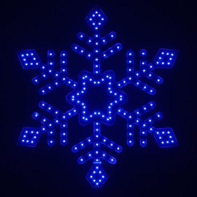 Ultra Bright SMD Diamond Tipped Snowflake, Blue Lights