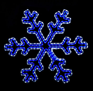 30 Point Snow Flake (Blue/Cool White) - Ropelight