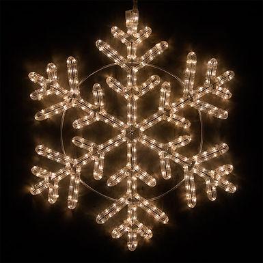 42 Point Snowflake, Warm White Lights