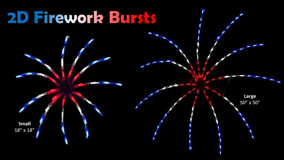 2D Firework Bursts